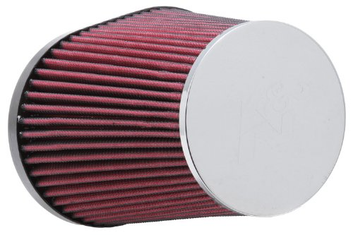 K&N RC-5126 Universal Clamp-On Air Filter: Oval Straight; 4 in (102 mm) Flange ID; 8.063 in (205 mm) Height; 7.5 in x 5.375 in (191 mm x 137 mm) Base; 4.5 in x 3.313 in (114 mm x 84 mm) Top