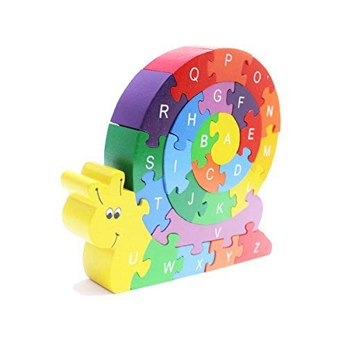 Shumee Wooden Snail Jigsaw Puzzle for Toddlers, Kids, Preschool Age Children | Educational Toy | 100% Safe, Natural & Eco-Friendly | 3 Years and up ()
