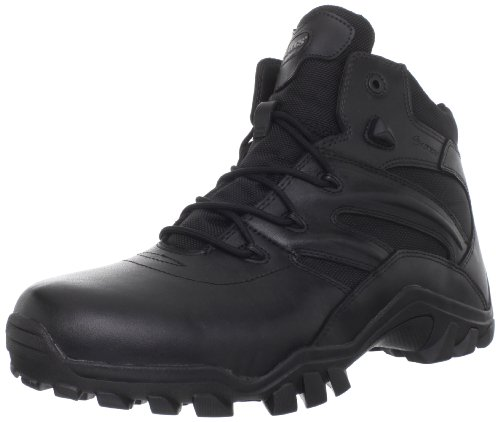 Bates Men's Delta Side Zip 6 Inch Uniform Boot, Black, 8.5 M US