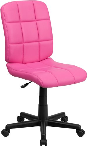 Swivel Task Office Chair (Flash Furniture Mid-Back Pink Quilted Vinyl Swivel Task Chair)