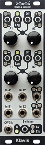 Mixwitch - Voltage & clock-controlled analog switch with mixers by Klavis