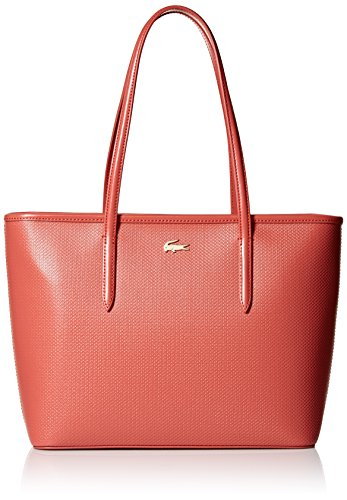 Lacoste Medium Zip Shopping Bag, Nf2116ce, Mineral Red by Lacoste