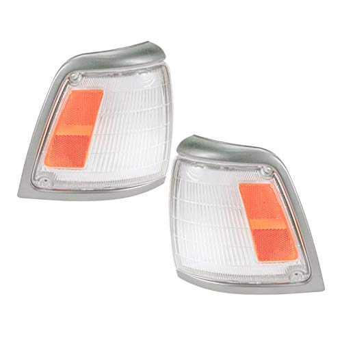 Side Corner Marker Parking Light Lamp Pair Set for 92-95 Toyota Pickup Truck 2WD