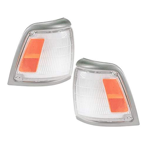 Side Corner Marker Parking Light Lamp Pair Set for 92-95 Toyota Pickup Truck 2WD