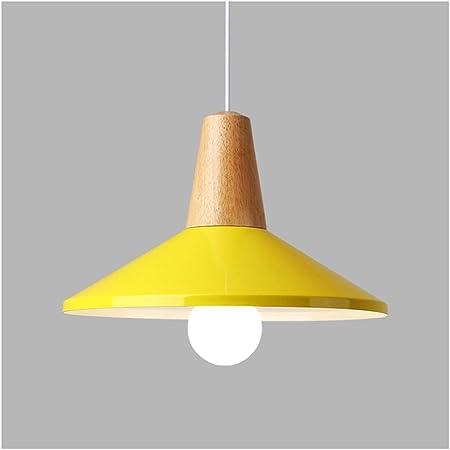 LJF lámpara Luces Colgantes Restaurante LED Chandelier - Modern Minimalist Bar Lamp Industrial Style Chandelier [Clase de energía A ++] (Color : A, Size : Yellow Light): Amazon.es: Hogar