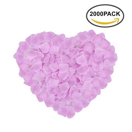 2000 Silk Roses - Neo LOONS 2000 Pcs Artificial Silk Rose Petals Decoration Wedding Party Color Light Lavender