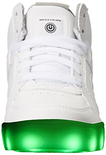 Skechers Energy Lights, Zapatillas Altas para Niños Blanco (White)