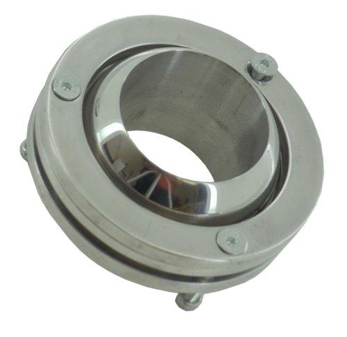 2' Swivel Ball Floor Mount Steering Column Polished Aluminum DEMOTOR