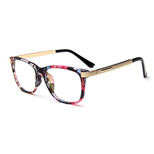 LOMOL Unisex Fashion Classic Retro College Style Transparent Clear Lens Frame - Goggles India Police In Price