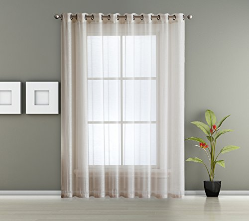 Cheap  1 Extra Wide Patio Grommet Semi Sheer - Curtain Panel by AsaTex..