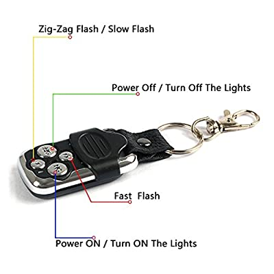 Jhe LED Light Bar Remote Control Switch,Relay Wiring Harness Remote Switch,Wireless Control ON/Off Strobe Flash Pulse for LED Light Bar Wire Harness/Fog Light Wire Harness and Spot Light Wire Harness: Automotive