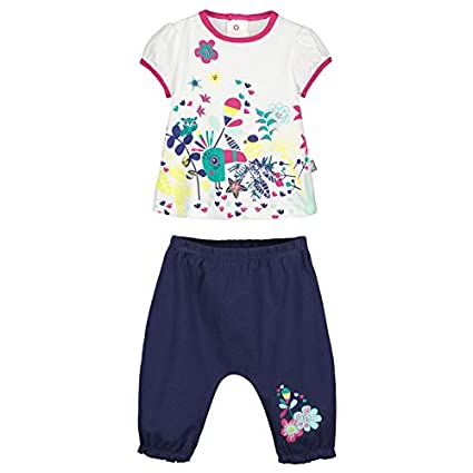 Petit Béguin - Ensemble bébé fille t-shirt + sarouel Hamini - Couleurs -  Ecru 3a391d11947