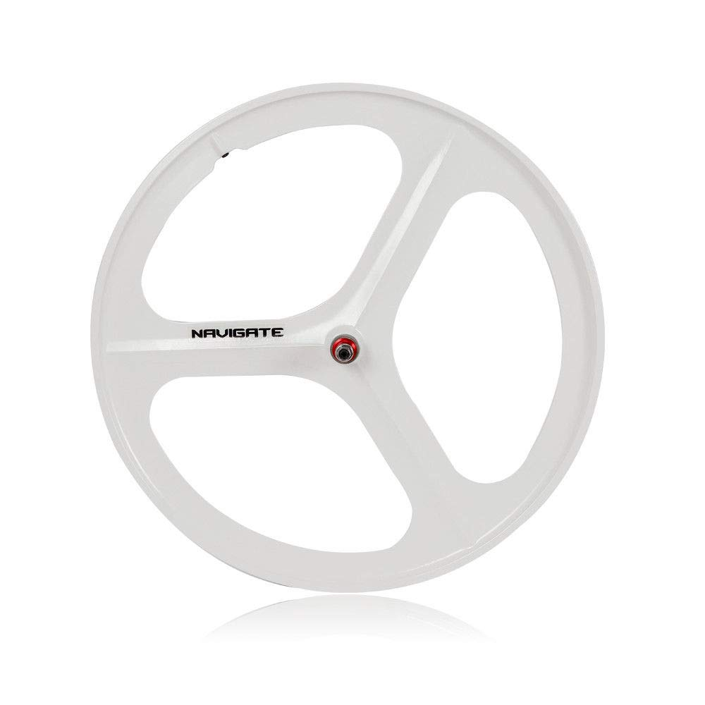 ONEPACK Fixed Gear 700c Rim White Single Speed Fixie Bicycle Wheel - Front