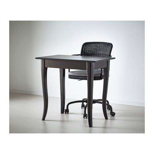 Ikea Leksvik Bureau.Ikea Leksvik Desk Black 79x50 Cm Amazon Co Uk Kitchen Home
