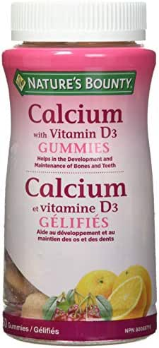 Vitamins & Supplements: Nature's Bounty Calcium + D3 Gummies