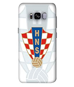 ColorKing Football Croatia 10 White shell case cover for Samsung S8