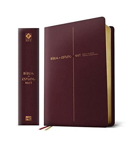 Bíblia de Estudo NVT - Capa Vinho