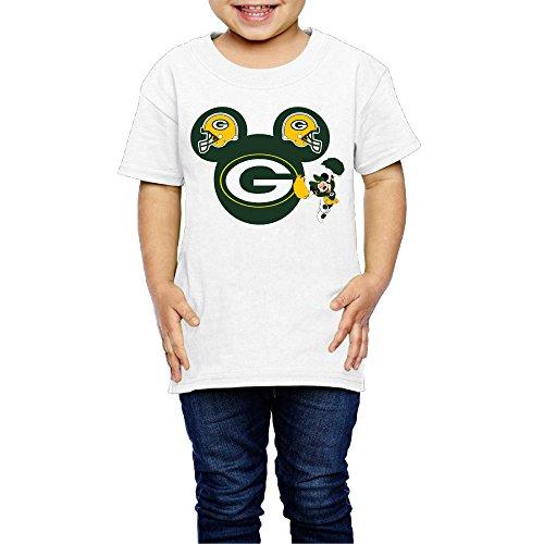 AK79 Kids 2-6 Years Old Boys And Girls Greenbay Logopackers Tee Shirt White Size 3 Toddler