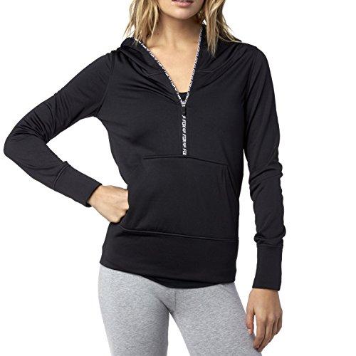 3/4 Zip Fleece Pullover - Fox Juniors Zeal Pullover Fleece Hoodie, Black, Large