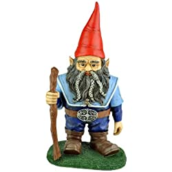 Georgetown Gnome with Staff Statue, Large