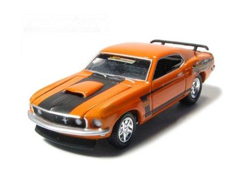 1969 Ford Mustang BOSS 429 Custom 1/64 Orange - Greenlight Models - Mustang Boss 429 Model