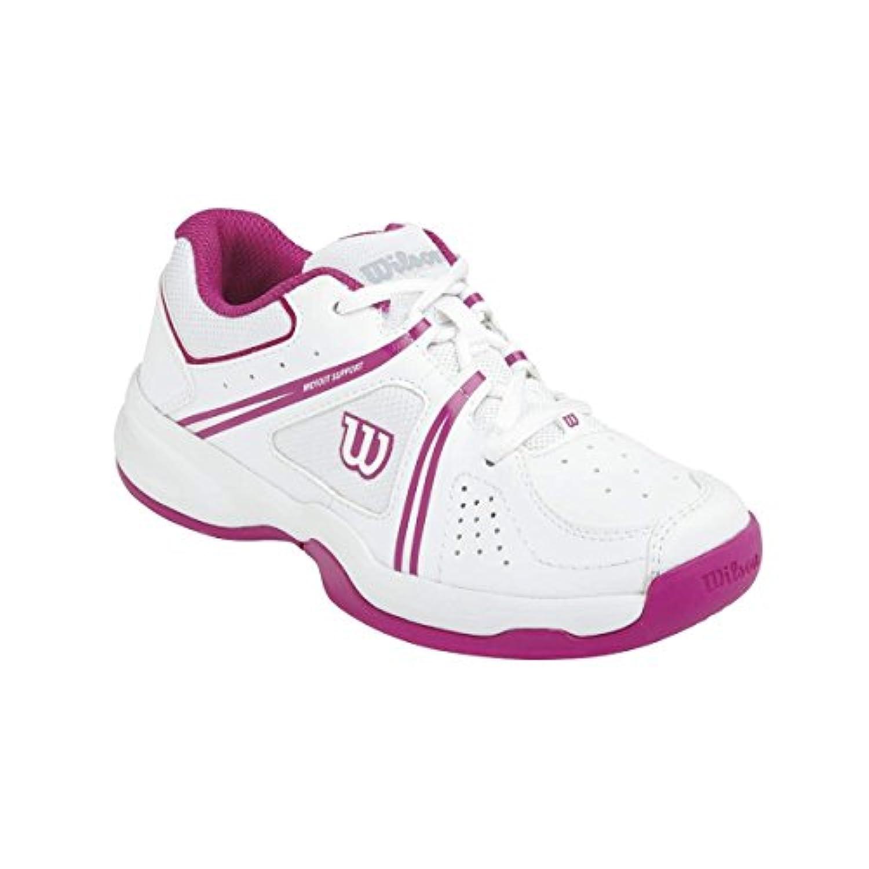 Wilson ENVY JR, Unisex Kids' Tennis Shoes, Multicolour - Mehrfarbig (WHITE/WHITE/FANDANGO PINK), 3.5 Child UK (36.5 EU)