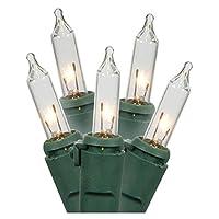 Gerson 62156 - 15 Juego de cuerdas de luz de Navidad en miniatura con cable de alambre verde claro claro