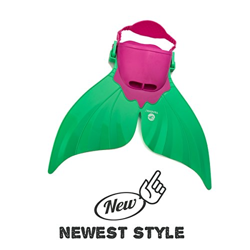 Tendol Mermaid Swimming Fin, with new strong adjustable strap. (Green)