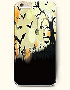 SevenArc Apple iPhone 6 Plus case 5.5 inches - All Hallows' Evening Jack-O'-Lanterns And Bat In Tomb