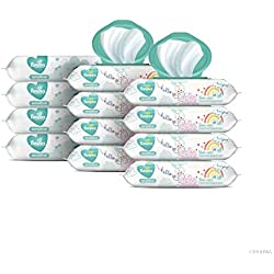Pampers Sensitive Water-Based Baby Wipes, 12X Pop-Top and Refill Combo Pack, 864 Count