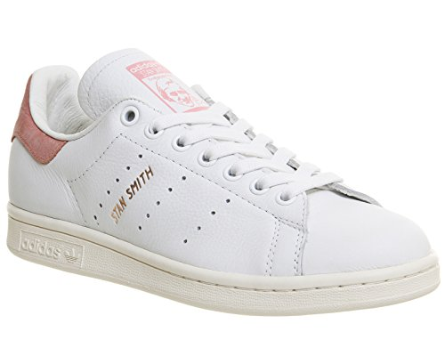 Adidas Stan Smith White Red Mens Trainers White Ray Pink Rose Gold Exclusive