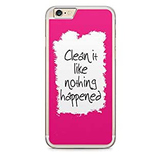 Clean it iPhone 6 Plus Transparent Edge Case