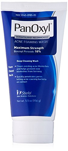 Panoxyl 10% Acne Foaming Wash, 5.5 oz, 3 Count (Pan Wash Am)