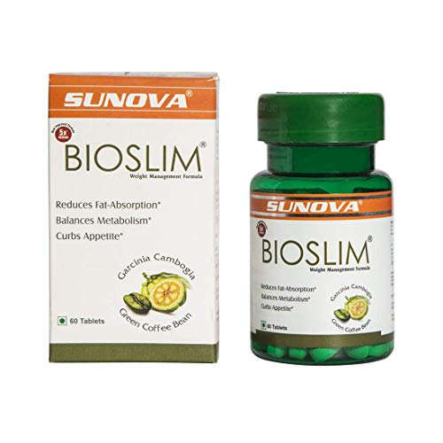 Sunova Bioslim (Garcinia Cambogia Extract and Green Coffee Bean Extract) - 60 Tablets