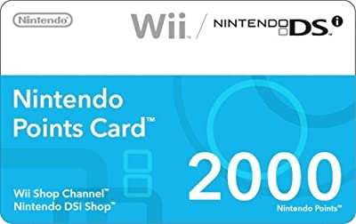 Nintendo 2000 Points Card and Prepaid Card $35 [Digital Code] from Nintendo
