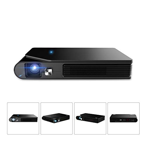 Projector, Video Projector 150 Inch Support, Small Projector Android 5.1 Bluetooth WiFi Beamer, Home Theater Projector, Black from YL-Light Video Projectors