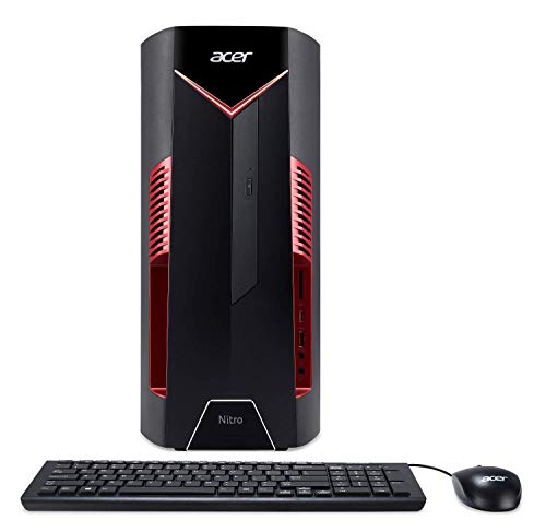 Acer Canada NITRO 50 DG.E0HAA.014 Desktop (Ci7-8700, 8GB Memory, 1TB + 16GB Optane HDD, RX580 4G Graphics) - Includes Keyboard and Mouse