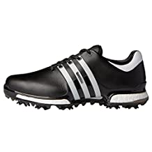 Adidas 2017 Tour 360 Boost 2.0 Mens Spiked Leather Waterproof Golf Shoes - Wide Fitting
