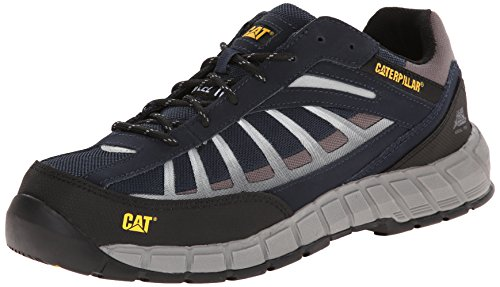 Caterpillar Men's Infrastructure Steel Toe Work Shoe, Navy, 9.5 W US