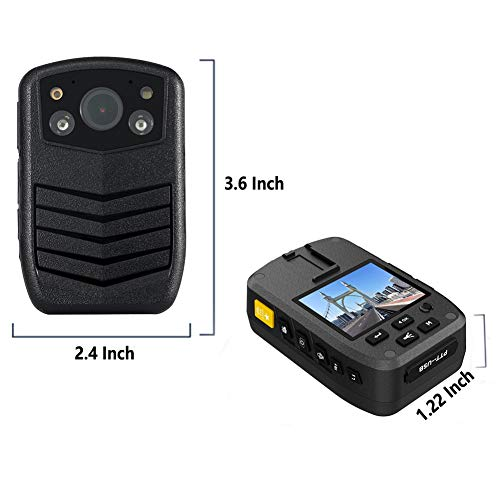 Meknic Q3 2K High Definition Portable Security Guards 64G Body Camera, Police Body Worn Mounted Camera Good Night Vision with 2'' Display for Law Enforcement, Police Officers,Security Companies (64GB) by MEKNIC (Image #7)