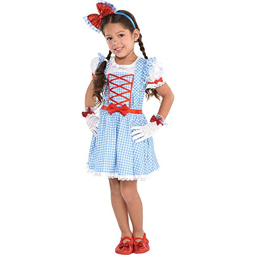 Suit Yourself The Wizard of Oz Dorothy Dress for Girls, One Size up to Girls' Size 4 to 6, Features Blue Gingham Print