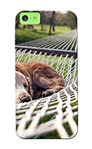 Awesome DBpNmhk7659DVSBj Crazinesswith Defender Tpu Hard Case Cover For Iphone 5c- Dog Resting In A Hammock