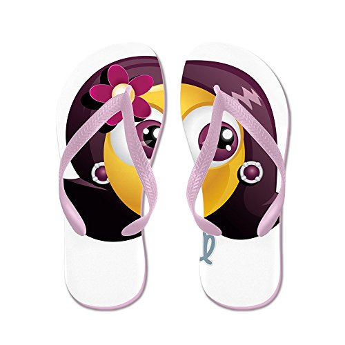 Truly Teague Mens SmileyFace Zodiac Virgo Rubber Flip Flops Sandals Pink m5ZMg