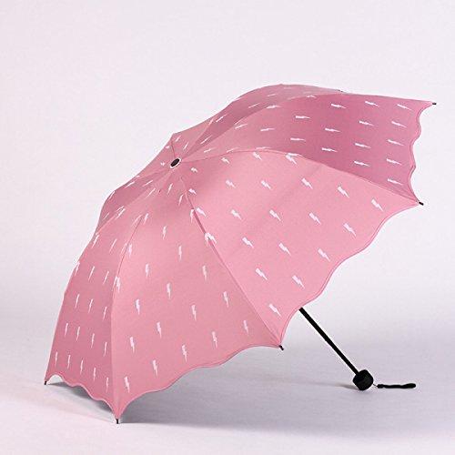 SBBCW Kreativ Südkorea Ausgabe Sonnenschutz Regen Oder Sonnenschein Damen Falten Doppelte Verwendungszweck UV-Schutz Schatten Kleiner Frischer Sonne Sonnenschirm 37IfP