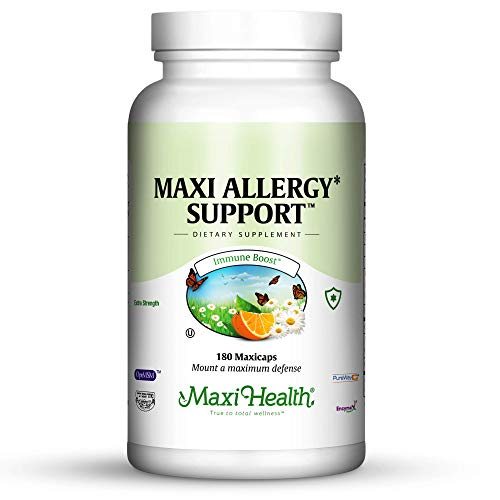 Maxi Health Allergy Support Vitamin C with MSM Sinus & Nasal Health, 180 Count