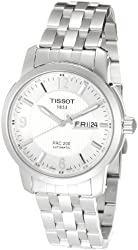 Tissot Men's T0144301103700 PRC 200 Silver Guilloche Day Date Dial Watch