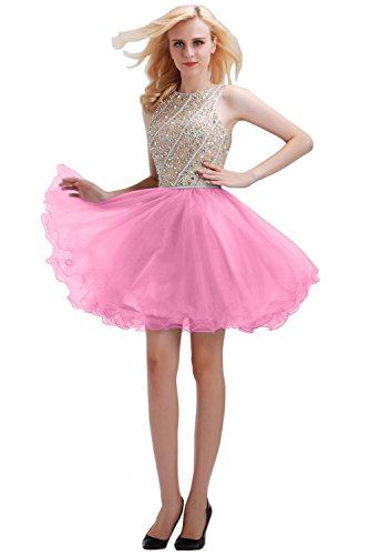 candy pink prom dresses - 8