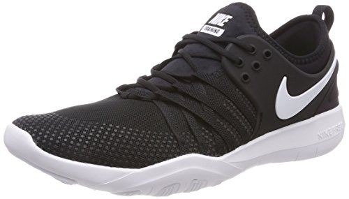 Nike Women's Free TR 7 Cross Training Shoe, Black/White, 8.5