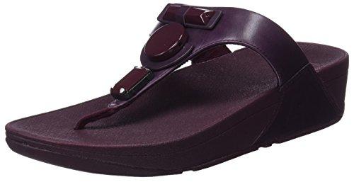 Viola Glamoritz Plateau Plum Sandali 398 Donna FITFLOP nbsp;Toe Thong Sandals con Deep SMqqd86