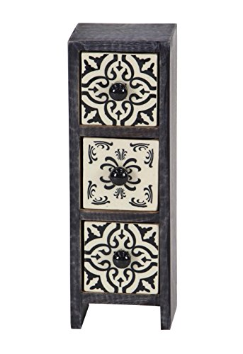 Deco 79 86375 Jewelry Box, Black/White